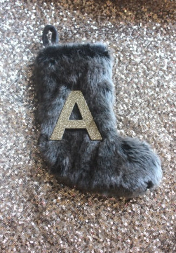 Personalized Fur Stocking Mini Small Christmas Tree