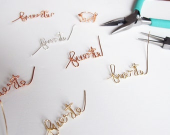 Fuerte Name Necklace, Bracelet and Ring Set // Gold, Rose Gold, or Silver // Personalized