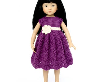 "Download Now - CROCHET PATTERN 13"" Little Darling Doll Sunrise Sunday Dress"