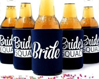 Bachelorette Party Can Coolers,  Bachelorette Favors, Bride's Squad, Navy