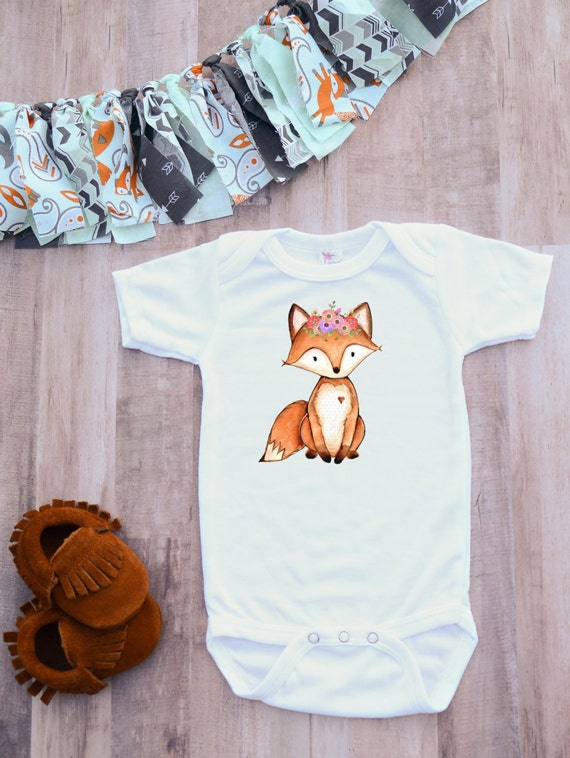 Fox Bodysuit Uni Clothes Hipster Baby Clothing Baby