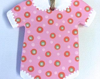 Baby Onesie Ornament Pink