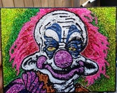 Killer Klowns from Outer Space- glitter art