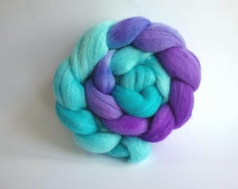 Mermaid Merino combed tops for spinning or felting