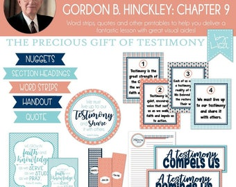 Relief Society Lesson Helps, Gordon B. Hinckley Lesson #9, RS Lesson Aides - Teachings of the Presidents of the Church, PRINTABLE Download