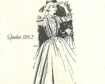 Spadea 1182 American Designer Vera Maxwell Button Front Dress Full Skirt Size 12 Bust 35 FF