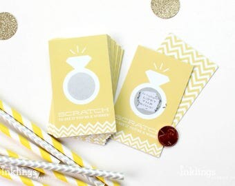 SALE! 24 Scratch Off Cards for Bridal Shower or Bachelorette Game // Sunshine Yellow