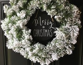 Merry Christmas Front Door Sign Sign Chalkboard Sign Home Decor Wall Decor Farmhouse Decor Chalkboard Art Wall Hanging Rustic Decor