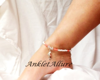 Coral Beach Anklet Feet Ankle Bracelet Feet Anklet Island Cruise Jewelry Body Jewelry Foot Jewelry