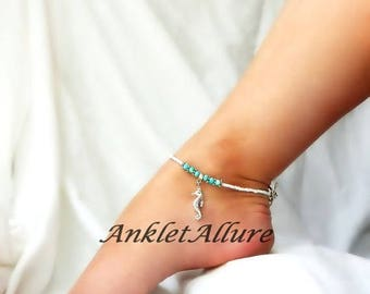 The Earth Seahorse Anklet Beach Ankle Bracelet Cruise Jewelry Resort Jewelry Foot Jewerly