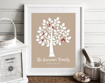 Family Christmas Gift, Personalized Gift, Best Friend Gift, Home Entryway Decor,Custom Family Name Wedding Gift,Personalized Family Tree Art