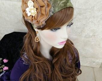 Lovely headband,head covering, haarband, israeli tichels, fancy headbands, by oshratdesignz