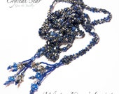 PDF beading tutorial pattern - Winter Kisses lariat