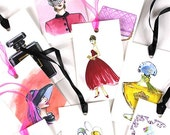 SALE - Mystery Grab Bag of Assorted All Occasion Fashion Gift Tag Set of 6