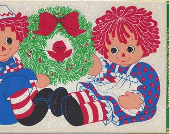Vintage Raggedy Ann and Andy Hallmark Decorative Seals, 1980s