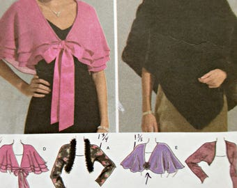 Simplicity 4742 Sewing Pattern, Shawl Pattern, Capelet and Wraps, Poncho Pattern, Bust 36 to 46 2004 Sewing Pattern, Shrug Sewing Pattern