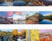 2017 Photo Calendar Landscape  Photography desk calendar with mini easel nature photography 5x7 Fine Art Prints