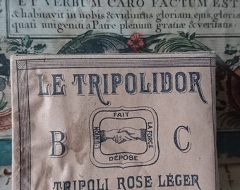 Rare box antique French laundry starch for trousseau dowry linens c1900 unused BELLE MAISON