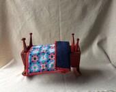 Antique Folk Art Child's Toy Cradle-19th C - Handmade & Painted -Wood-Doll's Cradle- -Americana
