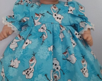Frozen Oley Dress for Bitty Baby doll