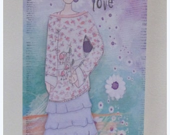 Those Who Give Love Art Doll Card