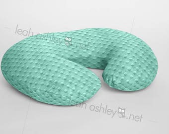 Boppy® Cover, Nursing Pillow Cover - Mint Minky Dot or Minky Smooth - Choose Your Minky Type - BC1