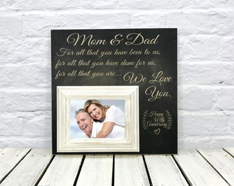 50th Anniversary Gift Picture Frame,  For All That You Have Been To Us, Parents Anniversary Gift, Anniversary Frame, 16x16 Madi Kay Designs