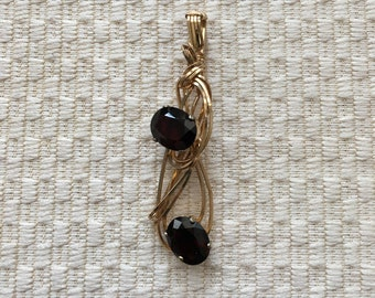 Garnet Round Stones Wire-Wrapped In 14K