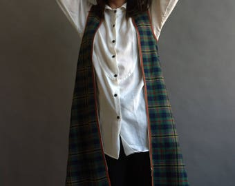 1970's plaid wool vest