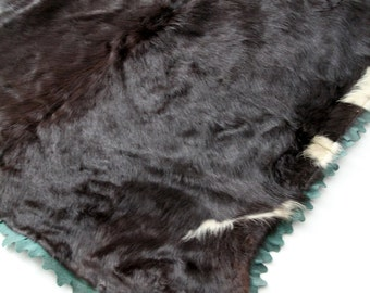 antique carriage or sleigh blanket, fur hide blanket Dubuque Tanning & Robe Co. circa 1910