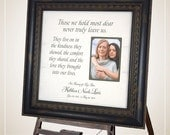 In Memory Of Gift, Memorial Gift mother father, Sympathy Gift, Remembrance Gift, Wedding Memorial, Those We Hold, Wedding Decoration, 16X16