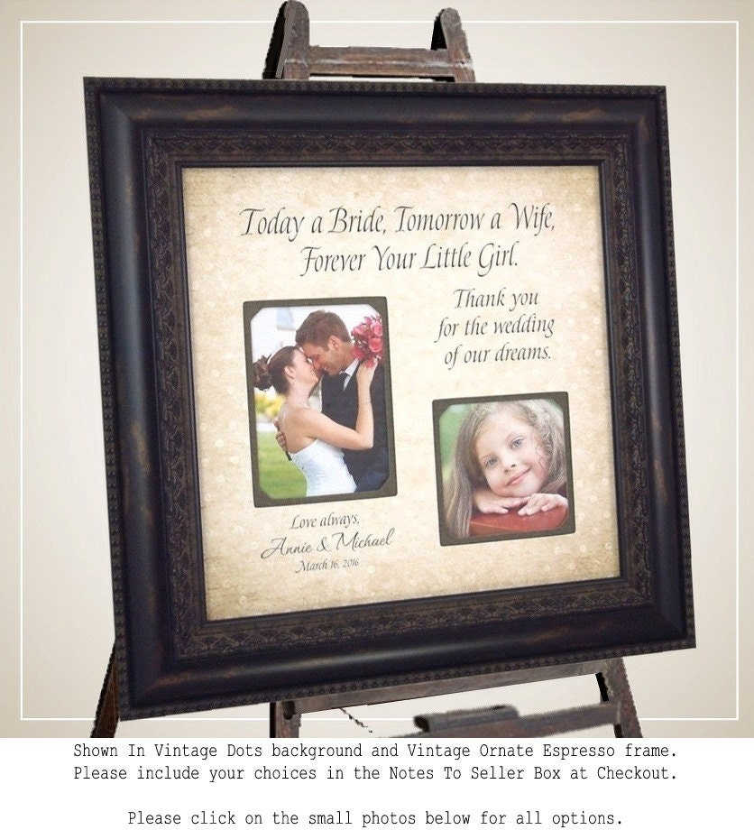 Engraved Wedding Gifts For Parents : Personalized Wedding Gifts For Parents MOM & DAD Sign