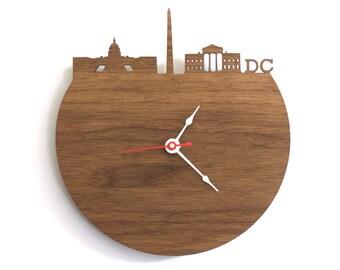 "DC Clock - 7"" Walnut SAMPLE"