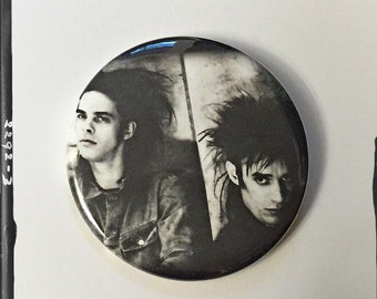 "Nick and Blixa - Large 2.25"" Pin Back Button"