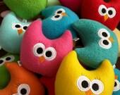 COBALT BLUE - Baby Jolly Owl Plushie - Plush Owl - Stuffed Owl - Toy Owl - Stuffed Animal - Baby Boy or Girl