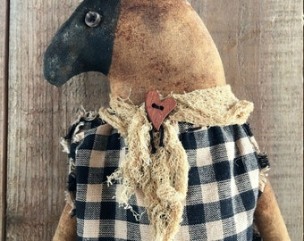 primitive folk art sheep doll - country primitive home decor - primitive folk art dolls - primitive dolls - primitive country home decor
