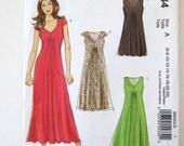 2010s Dress Pattern, Stitch n Save M6264, Womens Easy Sleeveless or Cap Sleeve Maxi Midi Knee Length Dress Sewing Pattern Size 6-22 UNCUT
