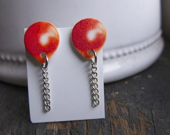 Red Balloon Earrings Post Jewelry Quirky Fun Jewellery Teen Tween Gift for Her Circus Festival Fair Carnival Geekery Dangle