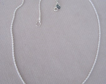 """Sterling Silver 2mm Twisted Rope 18""""-20""""-22""""-24"""" Lengths Rope Chain Necklace"""