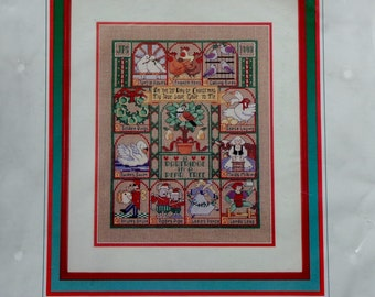 Counted Cross Stitch Kit | TWELVE Days Of CHRISTMAS SAMPLER | Dimensions