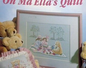 50%OFF | Betty Morris Hamilton | Story Time On MA ELLA'S Quilt | Leisure Arts | Teddy Bear Picnic | Counted Cross Stitch Pattern | Chart