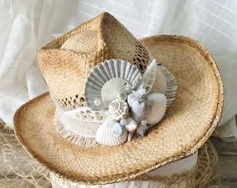 Ladies Hats Sun Hat Straw Hat Beach Hat Resort Wear Cruise Wear Wide Brim Hat Sun Hats for Women Seashell Hat Beach Wedding Hat Summer Hat