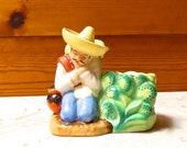 Vintage China Figural Mid Century Mexican Man Planter