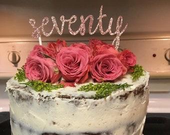Glitter Age or Anniversary Cake Topper