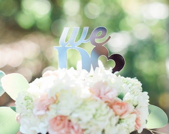 Acrylic We Do Silver Acrylic Cake Topper - Other Colors Available