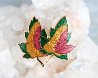Colorful Maple Leaf Brooch - Enamel Lapel Pin