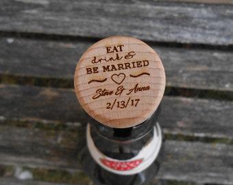 Custom Wine Bottle Stopper. CHOOSE YOUR DESIGN. Laser Engraved. Wedding, Favor, Gift. Custom Orders Welcome