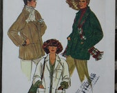 Vogue 7195 1970s 70s Boxy Raglan Coat Jacket Vintage Sewing Pattern  Size 14 Bust 36