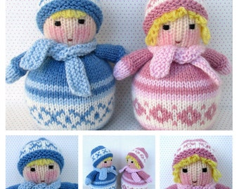 NEW - Snug Babies - cuddly baby toy doll- knitting pattern - PDF Instant Download
