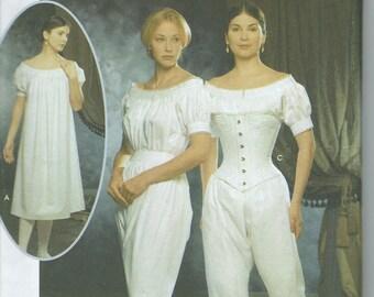 UNCUT Simplicity 9769 Civil War Undergarments Sewing Pattern Misses' Sizes 14-20